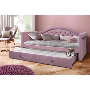 Кровать Жасмин плюс с каретной стяжкой (С дополнительным спальным местом) (детская кровать)