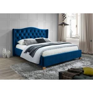 Кровать SIGNAL ASPEN VELVET темно-синий, 160/200 NEW