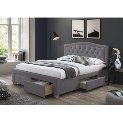 Кровать SIGNAL ELECTRA VELVET серый, 160/200 NEW 2