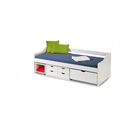 Кровать HALMAR FLORO 2 белая, 90/200
