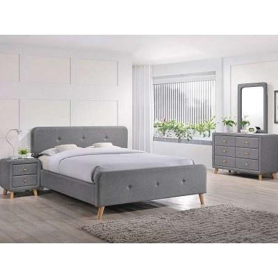 Кровать SIGNAL MALMO серая, 180/200