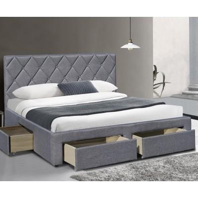 Кровать HALMAR BETINA серый, 160/200