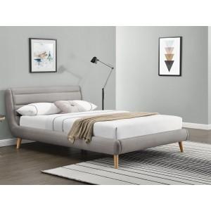 Кровать HALMAR ELANDA  светло-серая, 160/200
