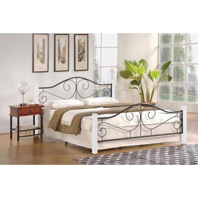 Кровать HALMAR VIOLETTA белый/черный, 160/200