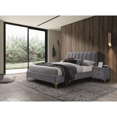 Кровать SIGNAL MIRAGE VELVET серый/золотой, 160/200 NEW 2