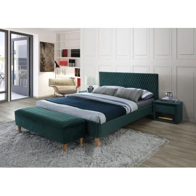 Кровать SIGNAL AZURRO VELVET зеленый/дуб, 160/200 NEW
