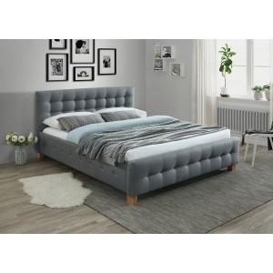 Кровать SIGNAL BARCELONA серый/дуб 160/200 NEW