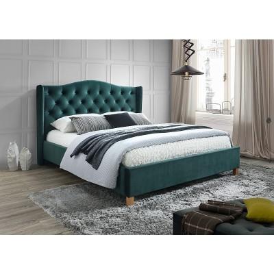 Кровать SIGNAL ASPEN VELVET зеленый, 160/200 NEW