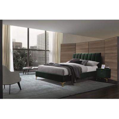 Кровать SIGNAL MIRAGE VELVET зеленый/золотой, 160/200 NEW 2