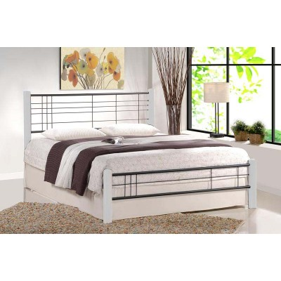 Кровать HALMAR VIERA белый/черный, 160/200 NEW