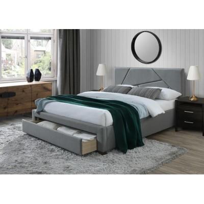 Кровать HALMAR VALERY серый/орех, 160/200 NEW