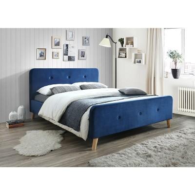 Кровать SIGNAL MALMO VELVET синий, 160/200 NEW