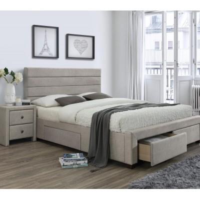 Кровать HALMAR KAYLEON бежевая, 160/200