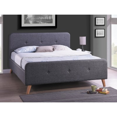 Кровать SIGNAL MALMO серая, 160/200