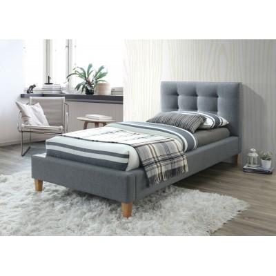 Кровать SIGNAL TEXAS серый/дуб, 90/200 NEW