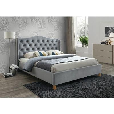 Кровать SIGNAL ASPEN VELVET серый, 160/200 NEW
